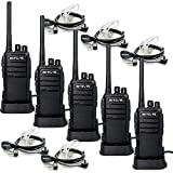 Retevis RT21 Walkie Talkies Long Range 16CH FRS Two Way Radio Hand Free 2 Way Radios with 2 Pin Covert Air Acoustic Earpiece (5 Pack)