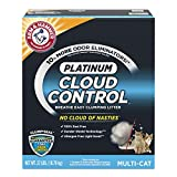 Arm & Hammer Platinum Cloud Control, Clumping Cat Litter, Multi-Cat, 37 Pound
