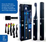 Pursonic Professional Removable USB Rechargeable Sonic Toothbrush With 2 Minute Timer, 2 Hour Quick Rapid Charge with 12 Brush heads