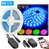 WiFi LED Strip Lights, Govee 16.4ft(5M) Waterproof Wireless Smart Phone App Controlled Light Strip Kit, Amazon Alexa Google Assistant Control RGB Led Strip Lights Music Sync (Not Support 5G WiFi)