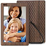 Nixplay Seed 10.1 Inch Widescreen Digital WiFi Photo Frame W10B Wood Effect - Digital Picture Frame with IPS Display and 10GB Online Storage, Display and Share Photos via Nixplay Mobile App