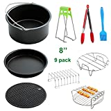 MySit Big Large XL Air Fryer Accessories 8', Set of 9, for Power Airfryer XL Gowise Phillips Cozyna, Fit All 5.3QT - 5.8QT