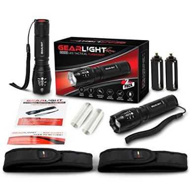 GearLight-LED-Tactical-Flashlight-S1000-2-Pack-High-Lumen-Zoomable-5-Modes-Water-Resistant-Light-Camping-Accessories-Outdoor-Gear-Emergency-Flashlights
