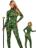 Women's Marijuana Leaf Full Bodysuit