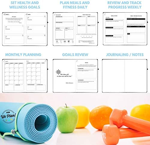 Food Journal & Fitness Diary with Daily Gratitude and Meal Planner for Healthy Living and Weight Loss Diet 9