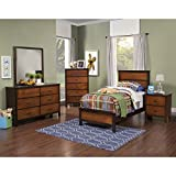 Product review for Brunswick Modern Youth 4 Piece Twin Bed, Nightstand, Dresser & Mirror in 2 Tone Copper with Chestnut Trim