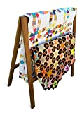 Product review for Premium Quilt Rack - 3-Tier Quilt Ladder Holds 5 Blankets or Afghans for Vender Displays - Great for Pillows, Shams and a Comforter- Folds Flat for Storage, Non-Toxic Finish. Handcrafted in the USA!