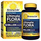 Renew Life Adult Probiotic - Ultimate Flora Probiotic Extra Care, Shelf Stable Probiotic Supplement - 50 billion - 60 Vegetable Capsules