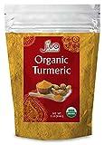 Organic Turmeric Root Powder 2 lb Bag with Curcumin & Non-GMO - Tested for Heavy Metals - by Jiva Organics (32 oz)