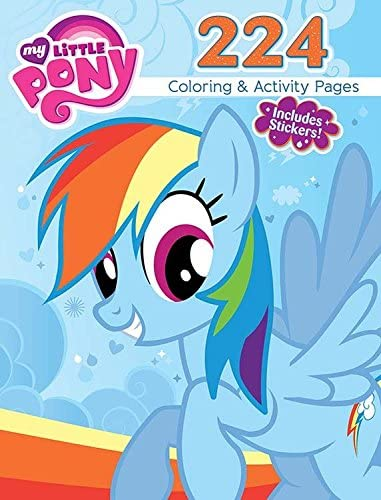 Amazon Com Bendon My Little Pony 224 Coloring Activity Book Including Stickers Hasbro Toys Games