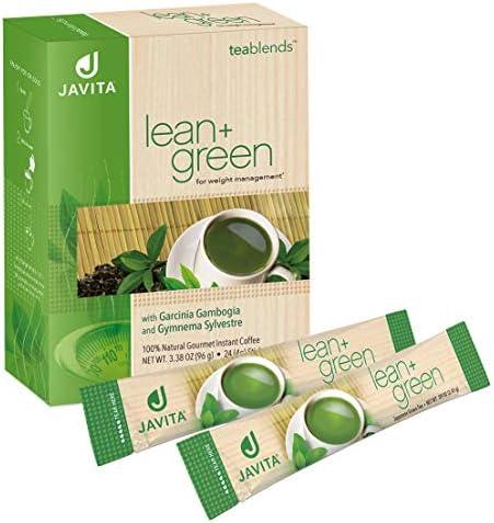 Lean + Green, Premium, 100% Sencha Green Tea, Super Citrimax (Garcinia Cambogia) & Gymnema Sylvestre, for Weight Management, Appetite Control and Sugar Balance 24 ct, Javita 1
