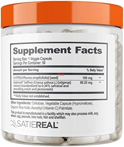 Genius Diet Pills – The Smart Appetite Suppressant That Works Fast for Safe Weight Loss, Natural 5-Htp & Saffron Supplement Proven for Women & Men – Cortisol Manger + Thyroid Support, 50 Veggie Caps 10