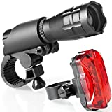 TeamObsidian Bike Light Set - Super Bright LED Lights for Your Bicycle - Easy to Mount Headlight and Taillight with Quick Release System - Best Front and Rear Cycle Lighting - Fits All Bikes