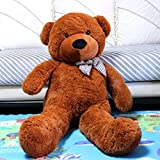 VERCART 4.5 Foot 55 inch Dark Brown Giant Huge Cuddly Stuffed Animals Plush Teddy Bear Toy Doll