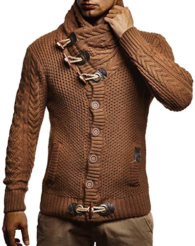 Leif Nelson Men's Knitted Jacket Turtleneck Cardigan Winter Pullover Hoodies Casual Sweaters Jumper LN4195 15 Fashion Online Shop gifts for her gifts for him womens full figure