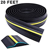 Universal Garage Door Threshold Seal, WEST BAY DIY Weather Stripping Bottom Rubber Waterproof 20 Feet Length (20ft, Black)