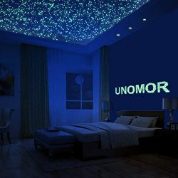 216 PCS Glow in Dark Stars and Moon, Glowing Stars Stickers for Ceiling and Wall Decals, Perfect for Kids Bedding Room or Party Birthday Gift