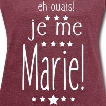 Spreadshirt-Mariage-Eh-Ouais-Je-Me-Marie-T-Shirt--Manches-retrousses-Femme