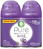 Air Wick Pure Freshmatic 2 Refills Automatic Spray, Lavender & Chamomile,Air Freshener, Essential Oil, Odor Neutralization,  2x5.89 Oz count ,Packaging May Vary