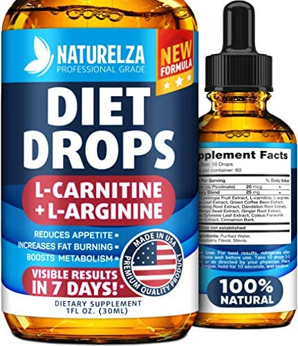 Weight Loss Drops - Made in USA - Best Diet Drops for Fat Loss - Effective Appetite Suppressant & Metabolism Booster - 100% Natural, Safe & Proven Ingredients - Non GMO Fat Burner - Garcinia Cambogia 1