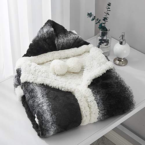 Chic Home Shady Snuggle Hoodie Animal Print Robe Cozy Super Soft Ultra Plush Micromink Sherpa Lined Wearable Blanket with 2 Pockets Hood Button Closure, 51x71, Black