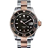 Davosa Swiss Made Dive Watch for Men - Ternos Ceramic Professional Automatic Watch with Analog Display and Unidirectional Luxury Bezel (16155565)