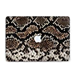Luxury Art Design Snake Skin Python Laptop Case For Macbook Air 13 11 Apple Pro 13 15 2016 2017 Hard Cover Macbook 12 inch Mac Pro Retina 15 13 Clear Protective Handmade Custom Design RD2023