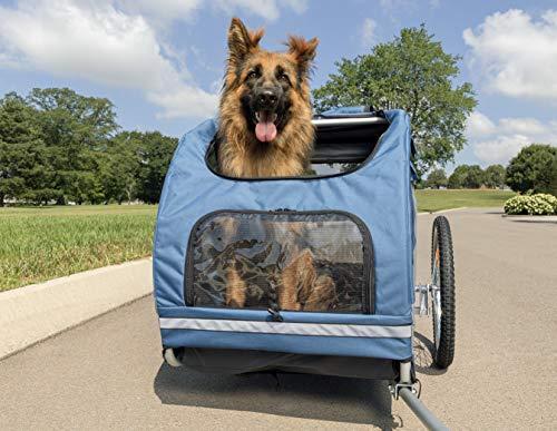 PetSafe Solvit HoundAbout II Pet Bicycle Trailer for Dogs, Aluminum Frame, Large
