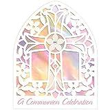 "Amscan""A Communion Celebration"" Communion, Large Novelty Invitations, 6.3"" x 4.9"", 8 Count, Pink"