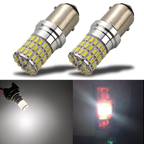 iBrightstar Newest 9-30V Extremely Bright 1157 2057 2357 7528 BAY15D LED Bulbs Replacement for Back Up Reverse Lights or Tail Brake Lights,Xenon White