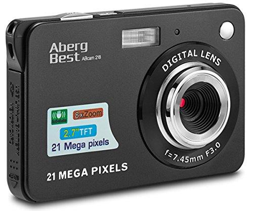 Aberg Best 21 Mega Pixels 2.7' LCD Rechargeable HD Digital Camera,Video camera Digital Students cameras,Indoor Outdoor for Adult /Seniors / Kids (Black)