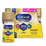 Enfamil NeuroPro Ready to Feed Baby Formula Milk, 8 fluid ounce (6 count) - MFGM, Omega 3 DHA, Probiotics, Iron & Immune Support
