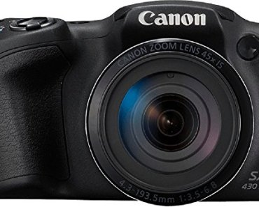Canon PowerShot SX430 IS 20MP Digital Camera with 45x Optical Zoom (Black)