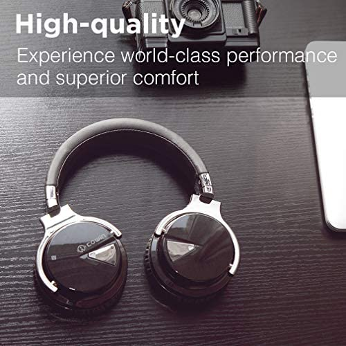 COWIN E7 Active Noise Cancelling Headphones Bluetooth Headphones with Microphone Deep Bass Wireless Headphones Over Ear, Comfortable Protein Earpads, 30 Hours Playtime for Travel/Work, Black 20