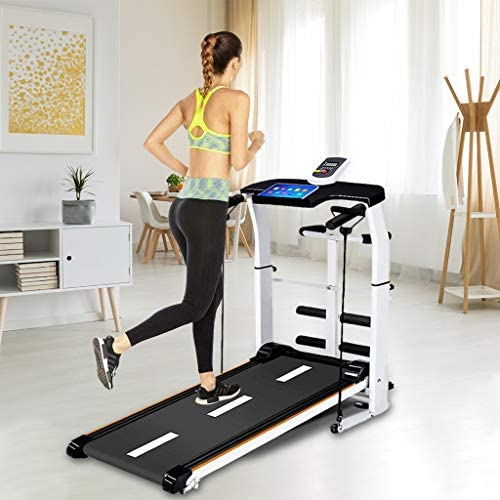 NBSR Folding Treadmill for Home,Treadmills for Women 340lbs Weight Capacity Silent Treadmill Folding Shock Running, Supine, Twisting, Draw Rope 4-in-1 Mechanical Mini Walking Machine 7