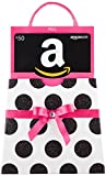 Amazon.com $50 Gift Card in a Polka Dot Reveal (Classic Black Card Design)
