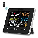 SMARTRO Wireless Indoor Outdoor Thermometer, Weather Station Color Large Display, Room Hygrometer Temperature and Humidity Monitor Gauge