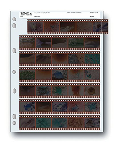 Archival 35mm Size Negative Pages Holds Seven Strips of Five Frames – 100 Pack
