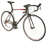 Vilano FORZA 4.0 Aluminum Integrated Shifters Road Bike, Black, 57cm/Large