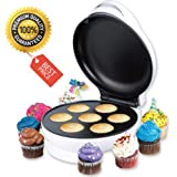 Mini Non-Stick Cupcake Maker For Snack Size Cupcakes, Brownies, and Donuts