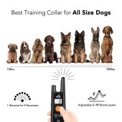 Dog-Training-Collar-Rechargeable-Dog-Shock-Collar-w3-Training-Modes-Beep-Vibration-and-Shock-100-Waterproof-Training-Collar-Up-to-1000Ft-Remote-Range-099-Shock-Levels-Dog-Training-Set