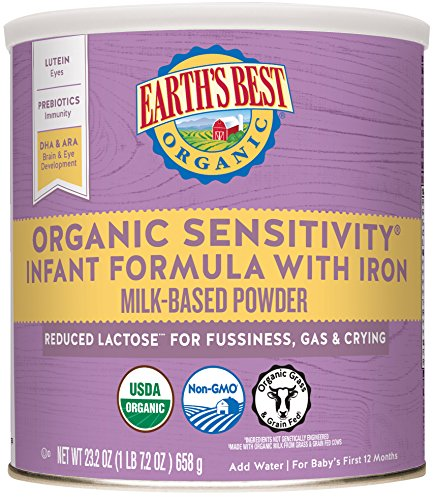 Earth's Best Organic Low Lactose Sensitivity Infant Formula with Iron