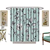 luvoluxhome Shower Curtains 3D Digital Printing Wild Flowers Draws Custom Made Shower Curtain W72 x L72