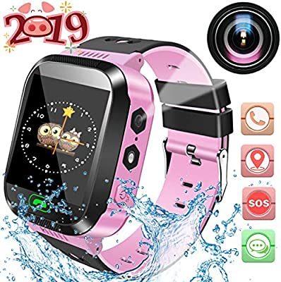 Children's Day Gift, Kids SmartWatch,Waterproof LBS Positioning Watch, Mobile Phone with Camera, Phone, Flashlight, SOS, Anti-Lost, Game, Alarm Clock, Clock, Birthday Gift for Children Aged 3-14