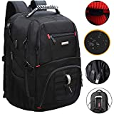 FREEBIZ Extra Large Travel Laptop Backpack,TSA Durable College School Computer Bookbag with USB Charging Port/Shockproof for Men&Women,Water-Resistant Big Business Bag Fits 18.4 Inch Laptop Notebook