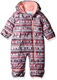 Columbia Unisex Baby Infant Frosty Freeze Bunting, Rosewater Zigzag Print, 18/24