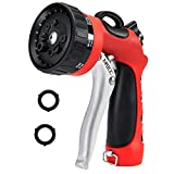 MATCC Garden Hose Nozzle Sprayer Heavy Duty Metal Watering Hose Spray Nozzle High Pressure with Pistol Grip Front Trigger for Watering Plants Cleaning Car Wash and Pets Bathing