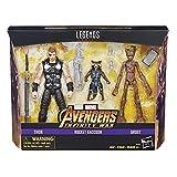 Marvel Legends Figura Thor y Rocket & Groot Avengers, 6 Pulgadas