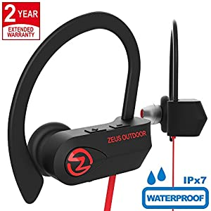 Sport Bluetooth Headphones IMPROVED 2018 - Mens Womens Running Headphones - Best Sports Wireless Earbuds Mic - HD Stereo Sound aptX IPx7 Bluetooth In-Ear Headphones for Women Men (up to 10 Hours)