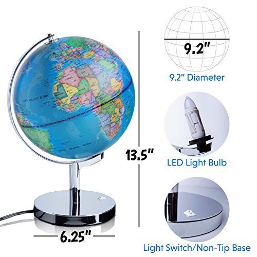 3 in 1 illuminated world globe nightlight and constellation globe 3 in 1 illuminated world globe nightlight and constellation globe for kids with world map interactive app gumiabroncs Images